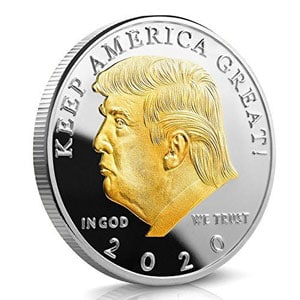Trump 2020 gold plated coin